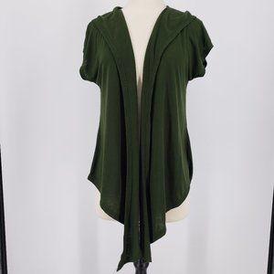Bongo Hooded Vest Green w Back Butttons XL
